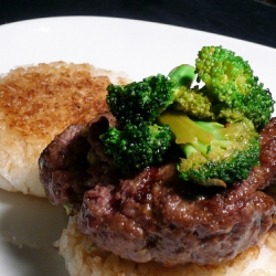 Hoisin Beef and Broccoli Burger