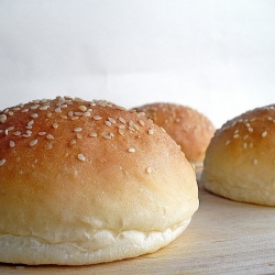 Homemade Sesame Seed Buns width=