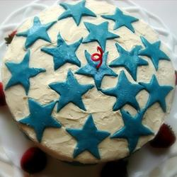 Star Topped Cake