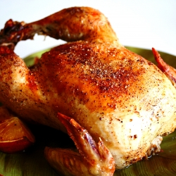 Szechuan Peppercorn Roasted Chicken - a recipe using my new addiction, SZP flavored salt.  Plus a drawing for a free bag of Szechuan Peppercorn!